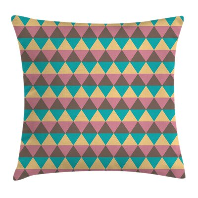 Geometrical Vintage Hexagonal Pillow Cover Size: 18 x 18