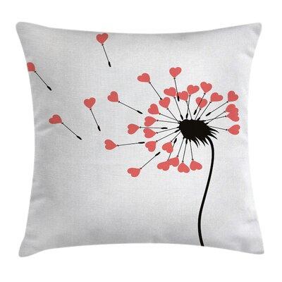 Valentine Dandelion Petals Buds Pillow Cover Size: 24 x 24