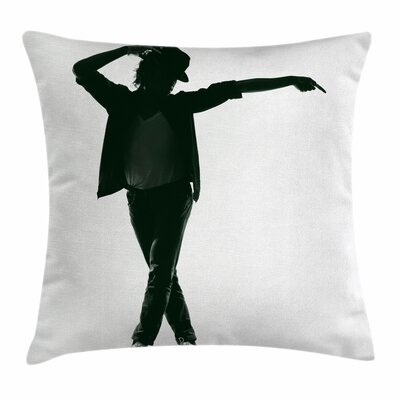 Michael Jackson Pop Inspiration Square Pillow Cover Size: 16 x 16