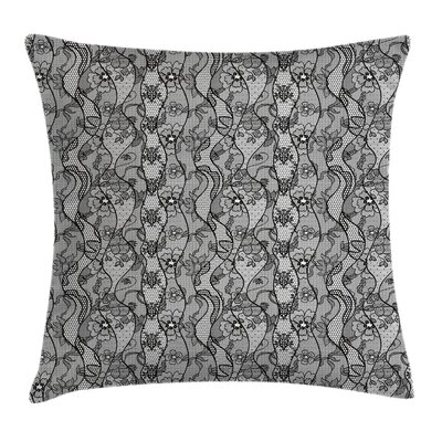 Antique Lace Gothic Pattern Pillow Cover Size: 24 x 24