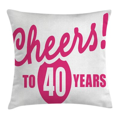 Cheerful Greeting Icon Pillow Cover Size: 20 x 20