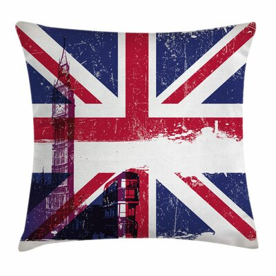 Union Jack Country Culture Old Square Pillow Cover Size: 20 x 20