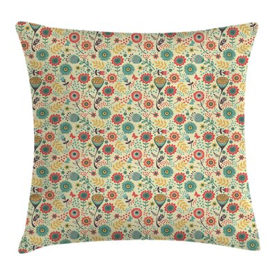 Modern Flower Bouquet Botany Square Pillow Cover Size: 16 x 16