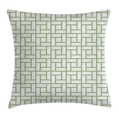 Maze Shaped Squares Lines Pillow Cover Size: 24 x 24
