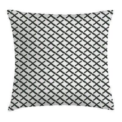 Modern Minimalist Brushstokes Pillow Cover Size: 18 x 18