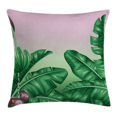 Garden Exotic Orchid Blooms Pillow Cover Size: 16 x 16