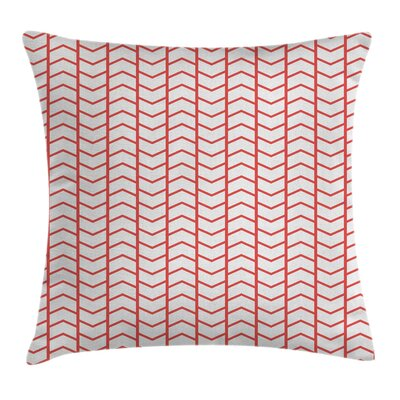 Modern Rectangular Borders Pillow Cover Size: 24 x 24