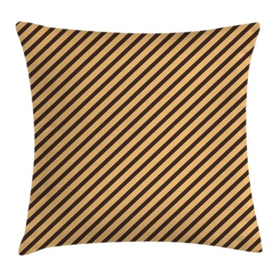 Vintage Home Striped Modern Pillow Cover Size: 18 x 18