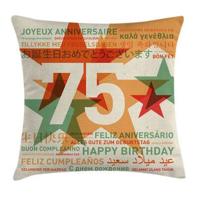 Vintage Worldwide Greetings Square Pillow Cover Size: 24 x 24