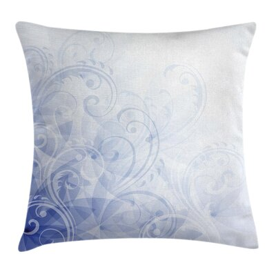 Light Abstract Floral Curl Pillow Cover Size: 18 x 18