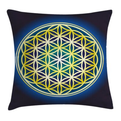 Flower of Life Nature Spirals Pillow Cover Size: 18 x 18