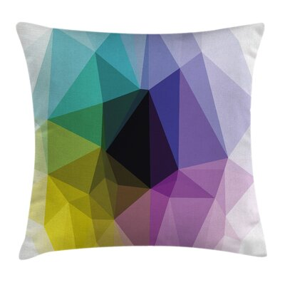 Digital Triangles Color Shades Pillow Cover Size: 18 x 18
