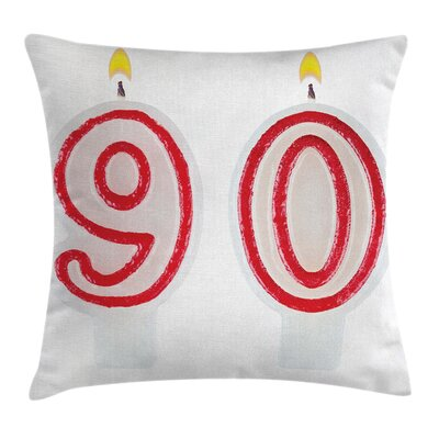 Burning Birthday Candles Square Pillow Cover Size: 18 x 18