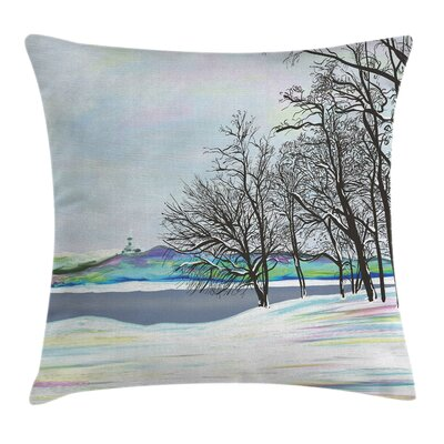 Rustic Rural Winter Forest Art Pillow Cover Size: 24 x 24