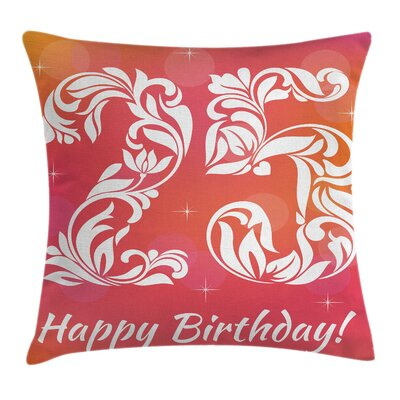 Floral Twenty Five Number Stars Square Pillow Cover Size: 20 x 20