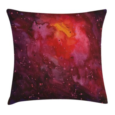 Galaxy Cosmos Stardust Universe Pillow Cover Size: 16 x 16