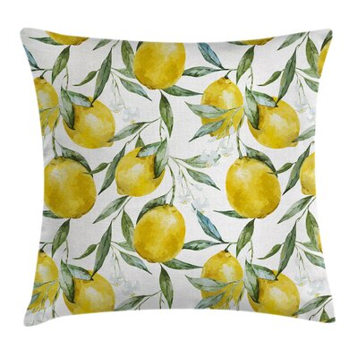 Garden Vibrant Citrus Plants Pillow Cover Size: 18 x 18