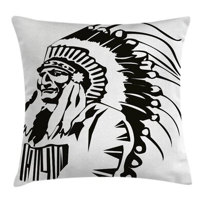 Tribal Native American Chef Pillow Cover Size: 16 x 16