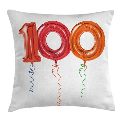 Birthday Party for Hundred Year Square Pillow Cover Size: 20 x 20