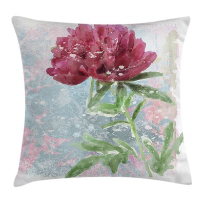 Retro Peony Blossoms Growth Pillow Cover Size: 18 x 18