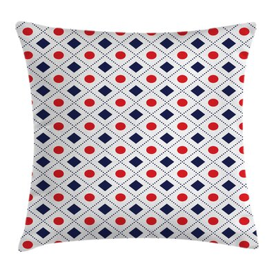 Americana Hexagonal Dot Stripes Square Pillow Cover Size: 16 x 16