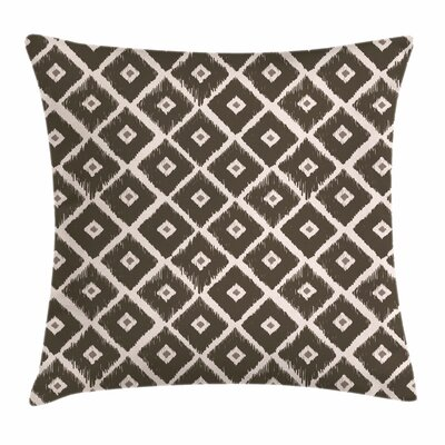Tribal Diamond Shaped Abstract Pillow Cover Size: 24 x 24