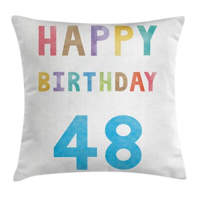 New Age Celebration Square Pillow Cover Size: 18 x 18