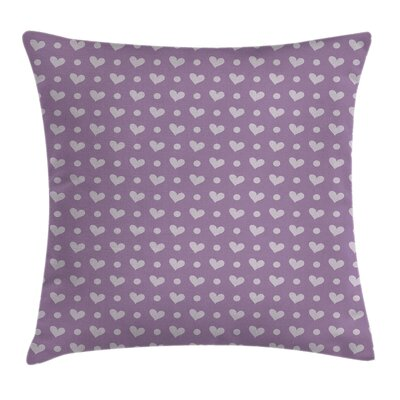 Wedding Inspired Heart Square Pillow Cover Size: 18 x 18