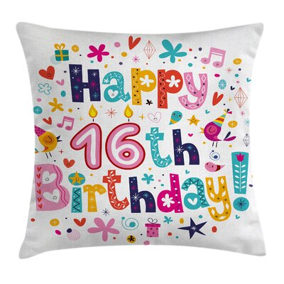 Icon Celebration Party Square Pillow Cover Size: 16 x 16