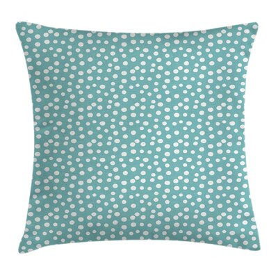 Vintage Polka Dots Square Pillow Cover Size: 24 x 24