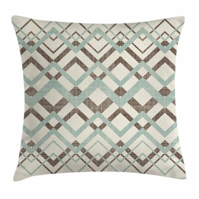 Chevron Vintage Zigzag Lines Square Pillow Cover Size: 18 x 18