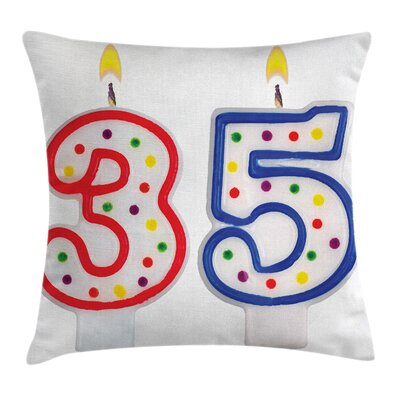 Birthday Surprise Party Candles Square Pillow Cover Size: 20 x 20