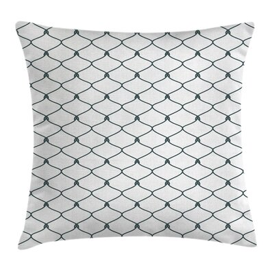 Decor Curvy Wavy Square Pillow Cover Size: 16 x 16