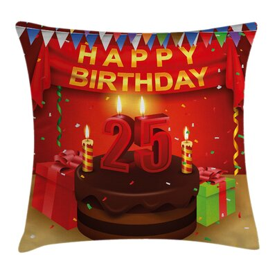 Cake Gifts Confetti Square Pillow Cover Size: 20 x 20