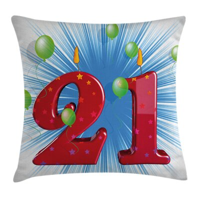 Abstract Balloons Pillow Cover Size: 24 x 24