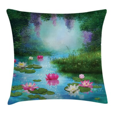 Nature Fantasy Pond Water Lily Pillow Cover Size: 24 x 24