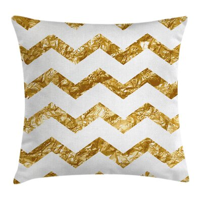 Chevron Zigzag Pattern Modern Pillow Cover Size: 18 x 18