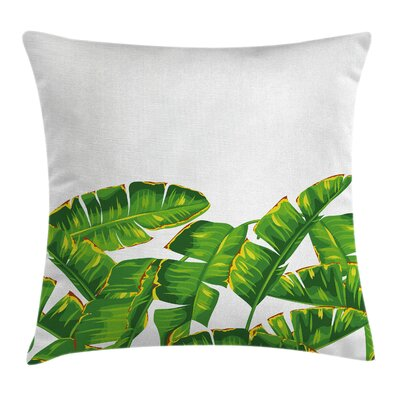 Nature Vibrant Tropical Foliage Pillow Cover Size: 18 x 18