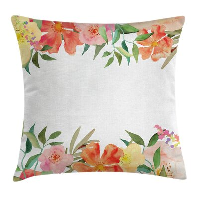 Shabby Elegance Soft Flower Petals Pillow Cover Size: 18 x 18