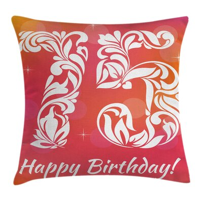 Floral Seventy Five and Swirls Square Pillow Cover Size: 18 x 18