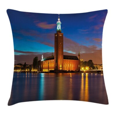 European Stockholm Scenic Night Pillow Cover Size: 16 x 16