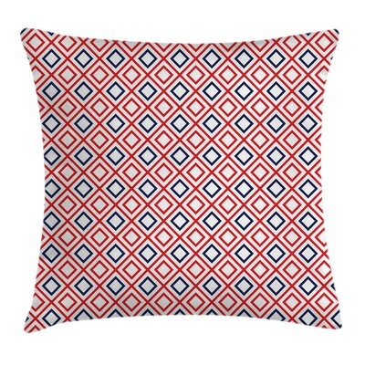 Geometric Diamond Line Stripes Square Pillow Cover Size: 18 x 18