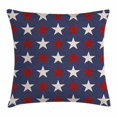 Primitive Country US Freedom Square Pillow Cover Size: 16 x 16