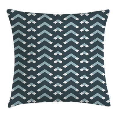 Chevron Triangle Square Pillow Cover Size: 16 x 16