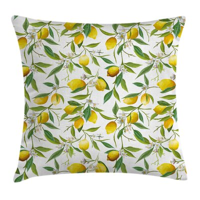 Nature Lemon Woody Romantic Pillow Cover Size: 20 x 20