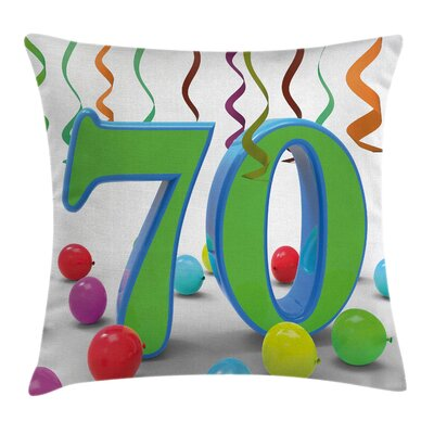 Balloons Curls Square Pillow Cover Size: 16 x 16