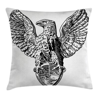 European Italian Rome Heraldry Pillow Cover Size: 24 x 24
