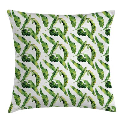 Forest Summer Leaves Pillow Cover Size: 16 x 16