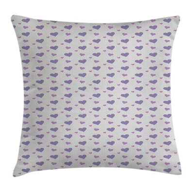 Love Icon Hearts Square Pillow Cover Size: 18 x 18