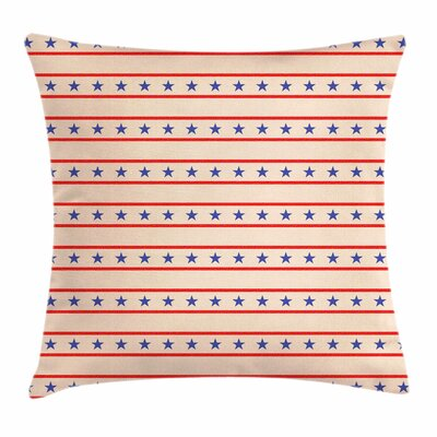 Primitive Country Nostalgic USA Square Pillow Cover Size: 16 x 16
